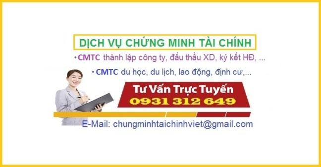 Chung minh tai chinh chuyen nghiep